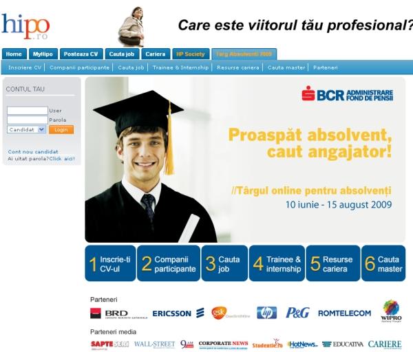 Targul Online de Cariera pentru Absolventi - 2009